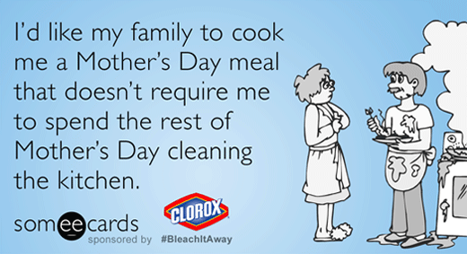 I'd Like My Family to Cook Me a Mother's Day Meal